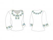 Заготовка женской блузы «Нежность 100 Г»
