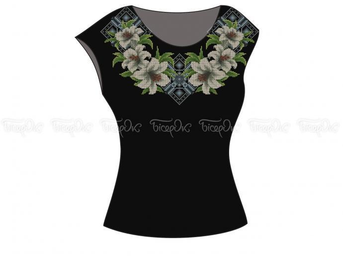 Заготовка жіночої блузи без рукавів для вишивки бісером «Ніжні лілії ... dbda42fd8ffb0