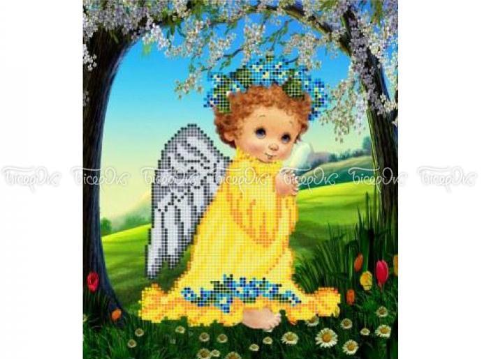Схема вишивки бісером «Ангел з незабудками» (A4) — купить в интернет ... 59079bb95d940