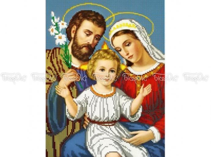 Схема вишивки бісером «Святе сімейство» (A3) — купить в интернет ... 4aee0007360a4