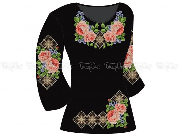 Заготовка жіночої туніки для вишивки бісером «Пишні троянди ... 4e2dede295884