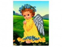 Схема вишивки бісером «Ангел з незабудками» (A5) 35676d877f82a