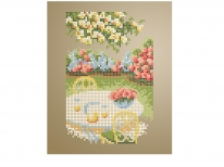 Схема вишивки бісером «Столик в саду» (A5) 03a5eb2c5df08